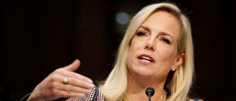 U.S. Secretary of Homeland Security Kirstjen Nielsen testifies to the Senate Judiciary Committee in Washington