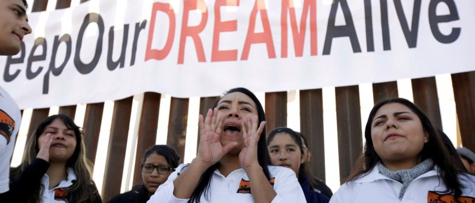 FILE PHOTO: 'Dreamers' react as they meet with relatives during the 'Keep Our Dream Alive' binational meeting in Sunland Park