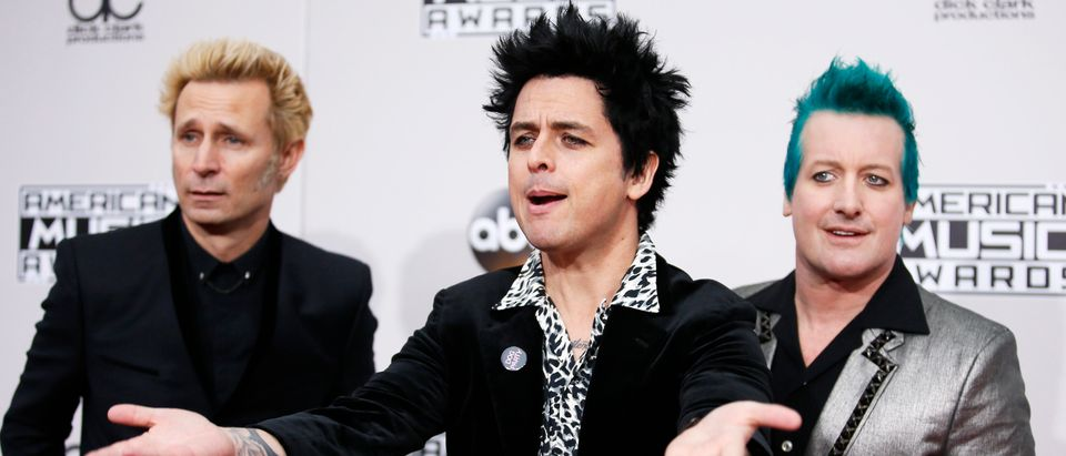 Green Day arrives at the 2016 American Music Awards in Los Angeles