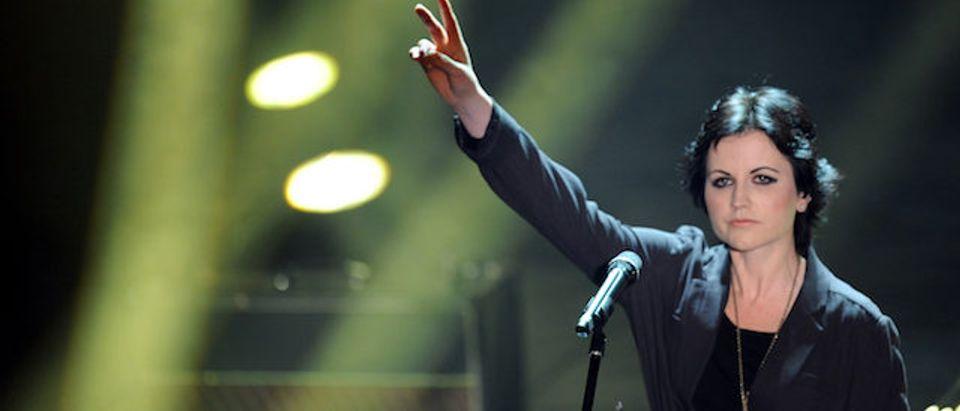 Singer Dolores O'Riordan of Irish pop ba