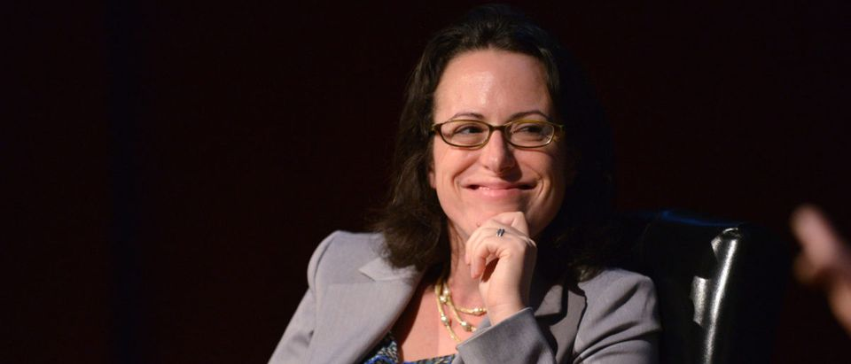 NEW YORK, NY - OCTOBER 18: Senior political writer at Politico Maggie Haberman speaks during the Free-For-All Media on the Camaign Trail Panel at New York Magazine's Election Issue event at the Morgan Library & Museum on October 18, 2012 in New York City. (Photo by Bryan Bedder/Getty Images for New York Magazine)