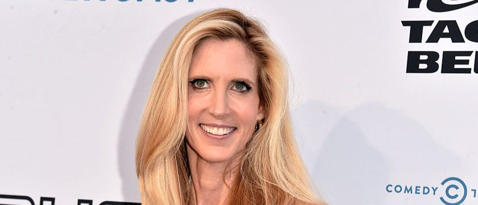 Political commentator and author, Ann Coulter attending The Comedy Central Roast of Rob Lowe at Sony Studios in August 2016 in Los Angeles. (Photo by Alberto E. Rodriguez/Getty Images)