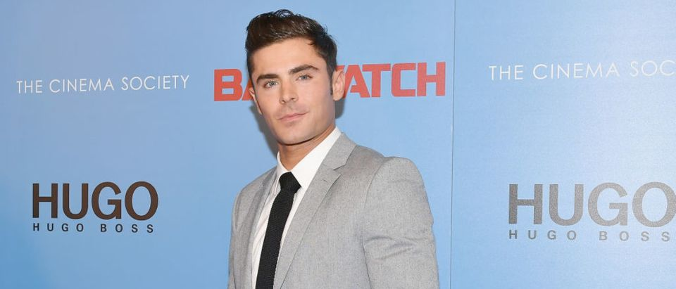 Zac Efron attends The Cinema Society's Screening Of 'Baywatch' at Landmark Sunshine Cinema on May 22, 2017 in New York City. (Photo by Dia Dipasupil/Getty Images)