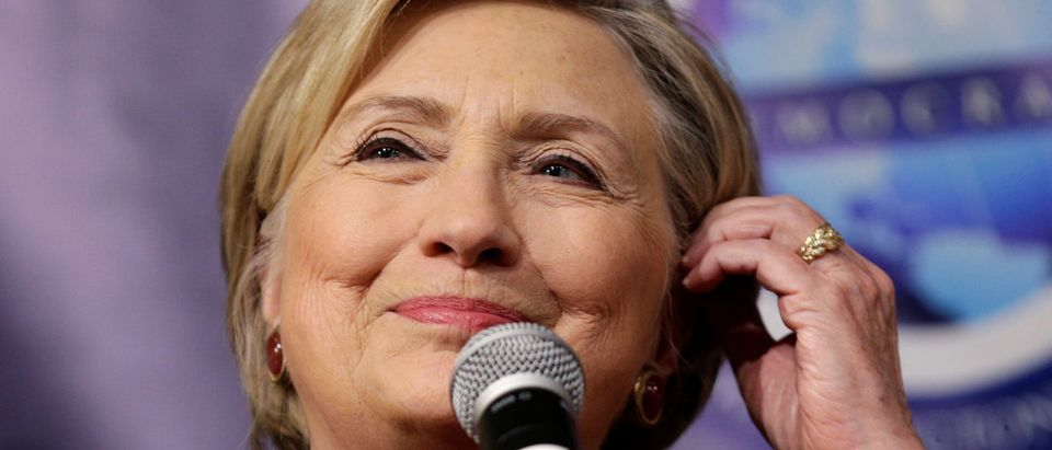 Former Secretary of State and 2016 Democratic presidential nominee Hillary Clinton speaks at the Woman's National Democratic Club in Washington