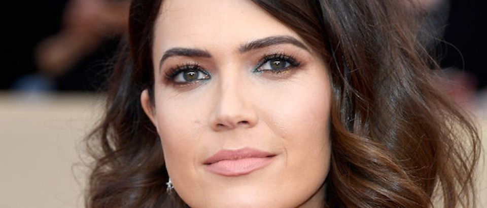 Actor Mandy Moore attends the 24th Annual Screen ActorsGuild Awards at The Shrine Auditorium on January 21, 2018 in Los Angeles. (Photo by Frazer Harrison/Getty Images)