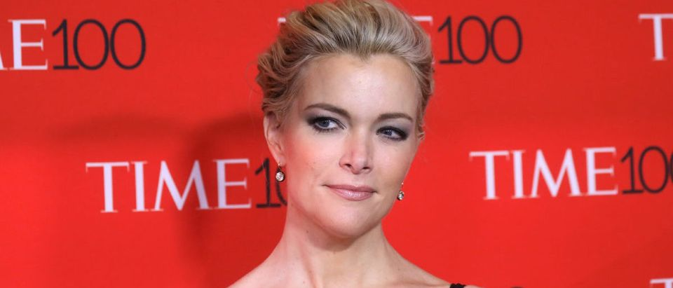 TV host Megyn Kelly arrives for the Time 100 Gala in the Manhattan borough of New York