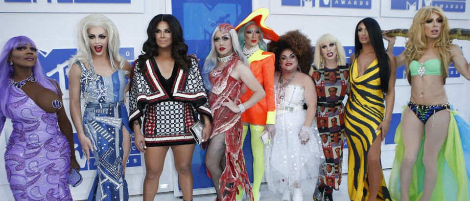 Rupaul's Drag Race All Stars arrive at the 2016 MTV Video Music Awards in New York