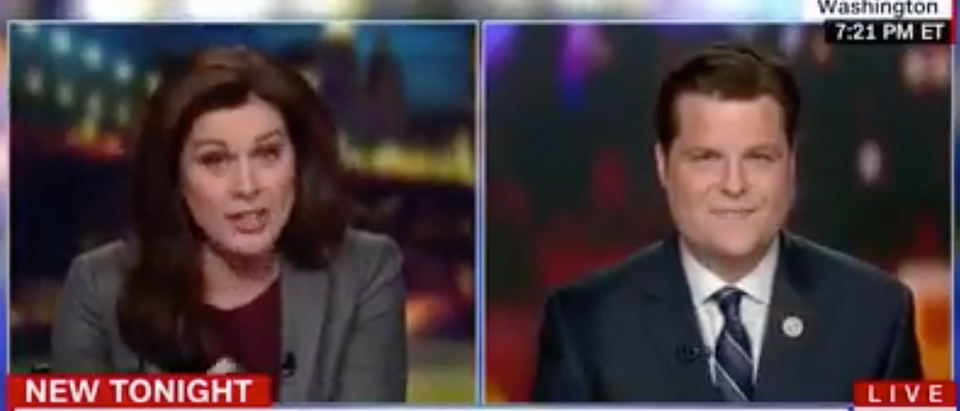 CNN's Erin Burnett interviews Florida Rep. Matt Gaetz, Jan. 10, 2018. (Youtube screen grab)