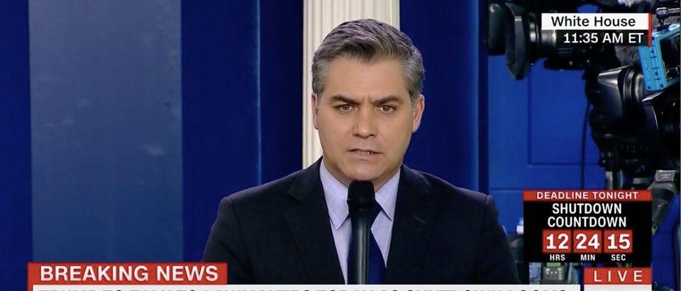 Screen Shot Jim Acosta (CNN: Jan 19, 2018)
