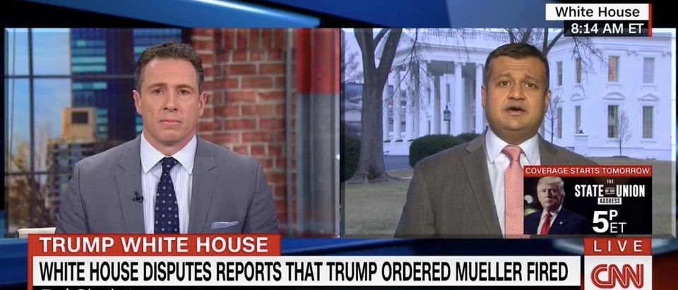 Screen Shot Chris Cuomo and Raj Shah (CNN: Jan 29, 2018)