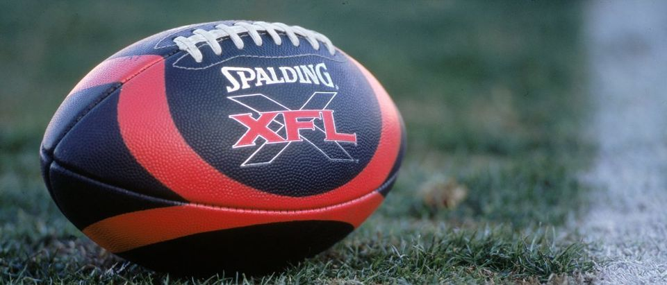 XFL Football (Credit: Todd Warshaw /Allsport/Getty Images)