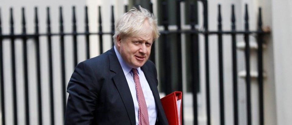 Britain's Foreign Secretary Boris Johnson arrives in Downing Street in London
