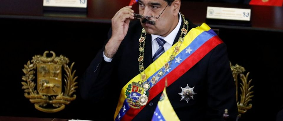 Venezuela's President Nicolas Maduro attends a ceremony to mark the opening of the judicial year at the Supreme Court of Justice (TSJ) in Caracas