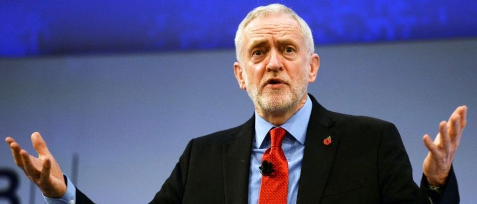 FILE PHOTO: British Labour Party leader Corbyn speaks at the Conferederation of British Industry's annual conference in London