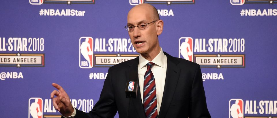 NBA commissioner Adam Silver speaks during the Commissioner Press Conference at the NBA All Star Games at Staples Center Feb. 17, 2018 in Los Angeles. Photo: Richard Mackson-USA TODAY Sports