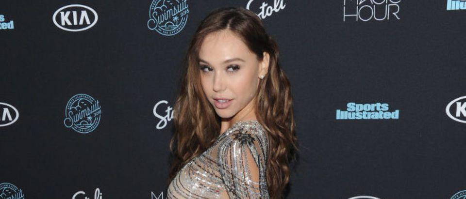Model Alexis Ren attends Sports Illustrated Swimsuit 2018 Launch Event at Magic Hour at Moxy Times Square on February 14, 2018 in New York City. (Photo by Craig Barritt/Getty Images for Sports Illustrated)