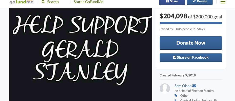 GoFundMe Campaign for Gerald Stanley