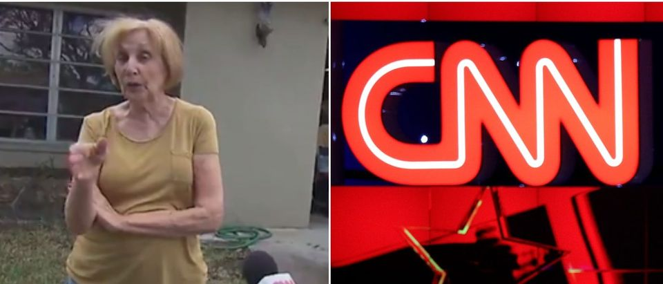 CNN logo Trump supporter