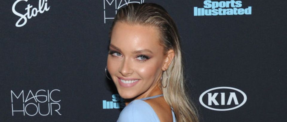 NEW YORK, NY - FEBRUARY 14: Model Camille Kostek attends Sports Illustrated Swimsuit 2018 Launch Event at Magic Hour at Moxy Times Square on February 14, 2018 in New York City. (Photo by Craig Barritt/Getty Images for Sports Illustrated)