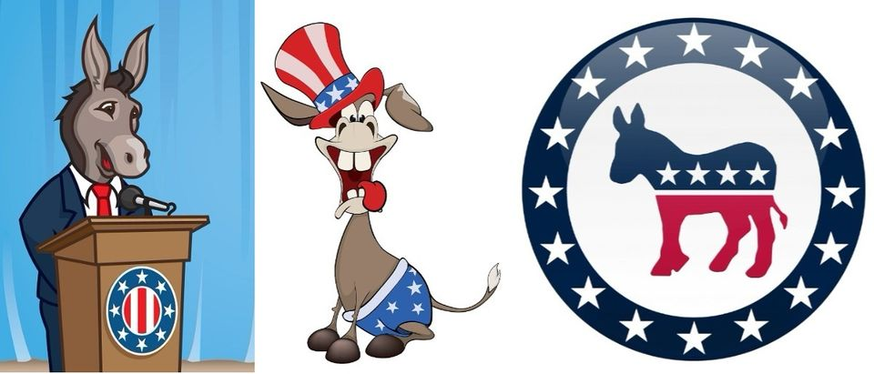 Democrats imagery collage Shuttterstock/shanesabin, Shutterstock/Liusa, Shutterstock/Matt Trommer