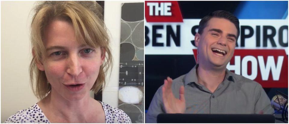 Left: Emily Lakdawalla The Planetary Society Youtube screenshot Right: The Daily Wire Youtube screenshot