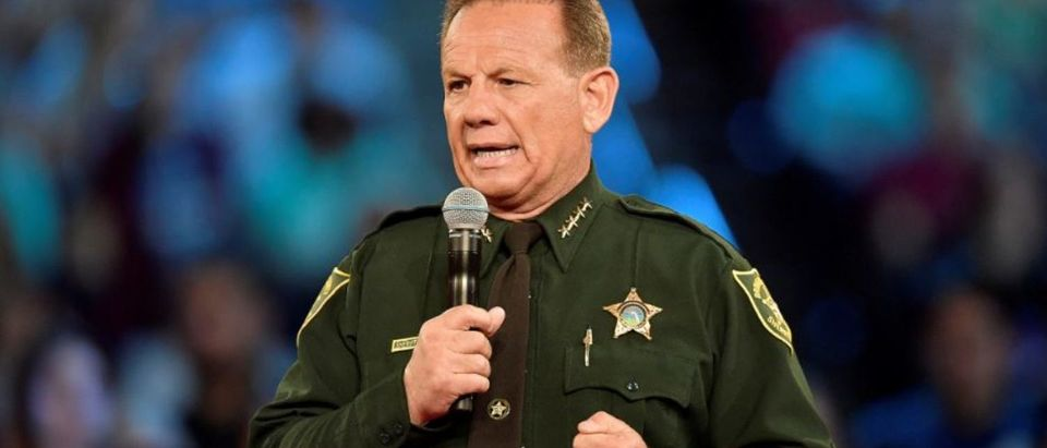 FILE PHOTO: Broward County Sheriff Scott Israel speaks before the start of a CNN town hall meeting at the BB&T Center, in Sunrise, Florida, U.S. February 21, 2018. REUTERS/Michael Laughlin/Pool/File Photo