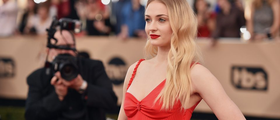 Actor Sophie Turner attends the 23rd Annual Screen Actors Guild Awards at The Shrine Expo Hall on January 29, 2017 in Los Angeles. (Photo by Alberto E. Rodriguez/Getty Images)