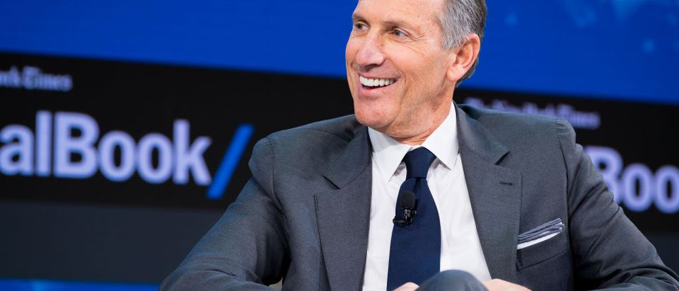 Howard Schultz, the CEO of Starbucks, has recently relieved himself of the day-to-day operations potentially freeing him up for a presidential run. (Photo by Michael Cohen/Getty Images for The New York Times)