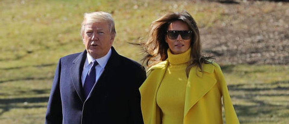President And Melania Trump Depart White House For Cincinnati