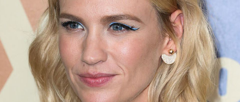 WEST HOLLYWOOD, LOS ANGELES, CA, USA - AUGUST 06: Actress January Jones arrives at the FOX Summer TCA All-Star Party 2015 held at the Soho House on August 6, 2015 in West Hollywood, Los Angeles, California, United States. (Photo by Xavier Collin/Image Press) Pictured: January Jones Picture by: Xavier Collin/Image Press Splash News and Pictures