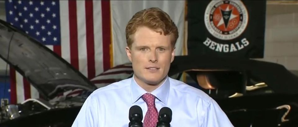 Pictured is Rep. Joe Kennedy III. (YouTube screenshot/Univision Noticias)
