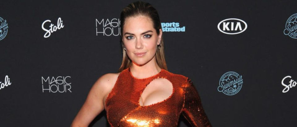 Model Kate Upton attends Sports Illustrated Swimsuit 2018 Launch Event at Magic Hour at Moxy Times Square on February 14, 2018 in New York City. (Photo by Craig Barritt/Getty Images for Sports Illustrated)