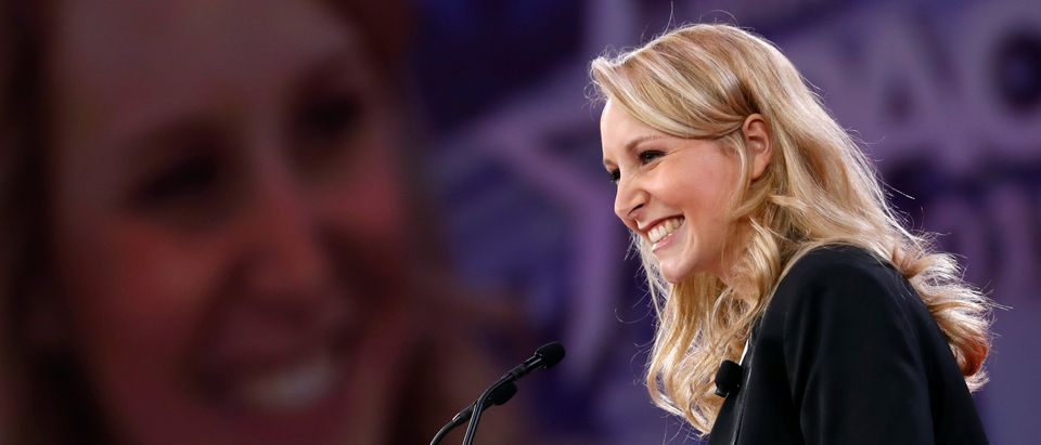 Marion Marechal-Le Pen speaks at the CPAC conference held in National Harbor, Maryland