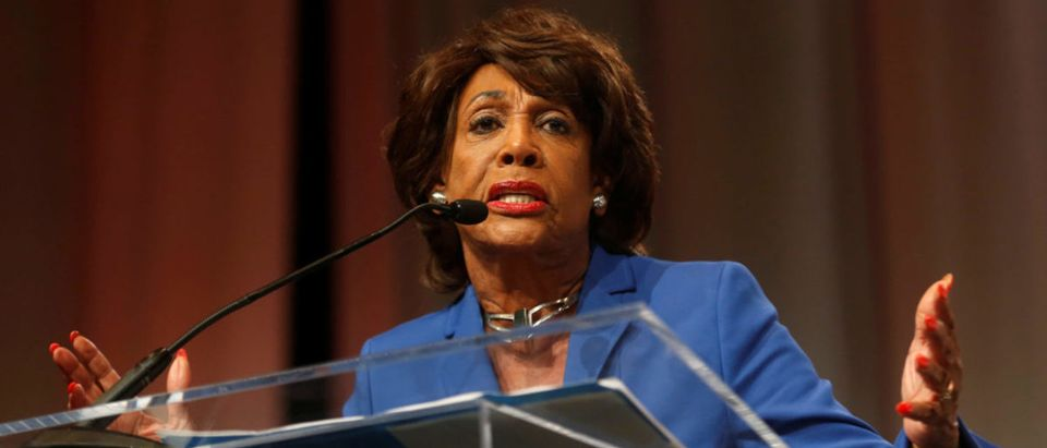 Congresswoman Waters addresses audience during Women's Convention in Detroit