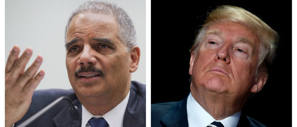Eric Holder and Donald Trump (Photos: Getty Images)