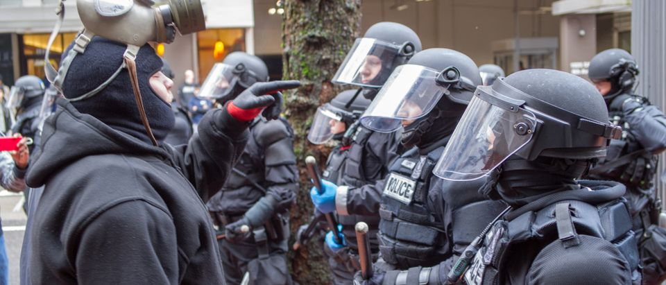 Don't Shoot PDX / Black Lives Matter protest in downtown Portland turns violent when the Portland Police Department intervenes and arrests activist