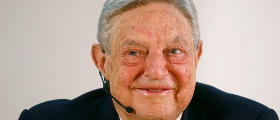 George Soros, Chairman of Soros Fund Management LLC gives speech in Frankfurt