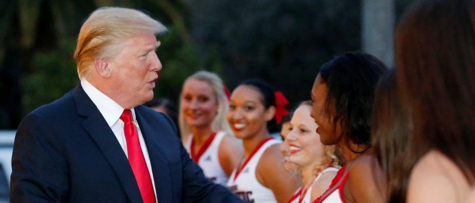 U.S. President Trump hosts a Super Bowl LII watch party at Trump International Golf Club in Palm Beach