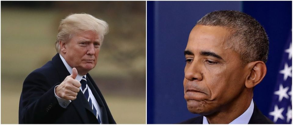 Donald Trump and Barack Obama [Left photo by Mark Wilson/Getty Images Right: Photo by Chip Somodevilla/Getty Images] | Donald Trump Undoes Barack Obama's Legacy