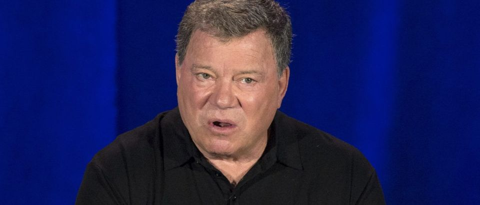 "Actor Shatner speaks at a panel for the television series ""Clangers"" during NBC summer press day in Pasadena"