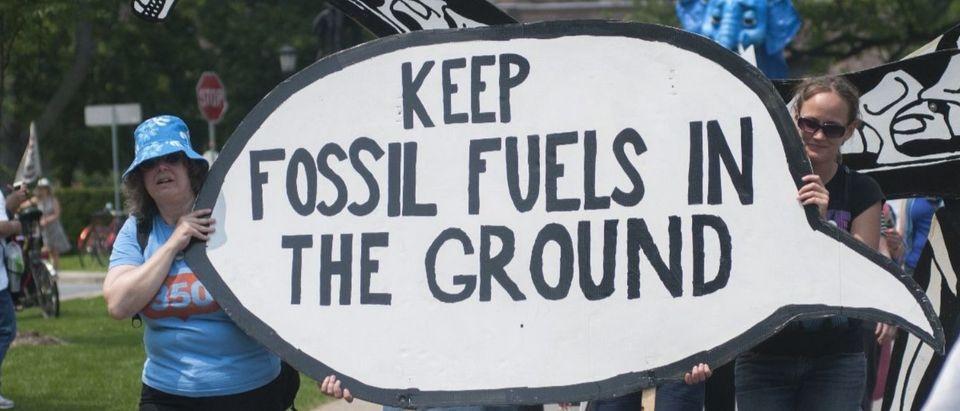 fossil fuels protest Shutterstock/arindambanerjee
