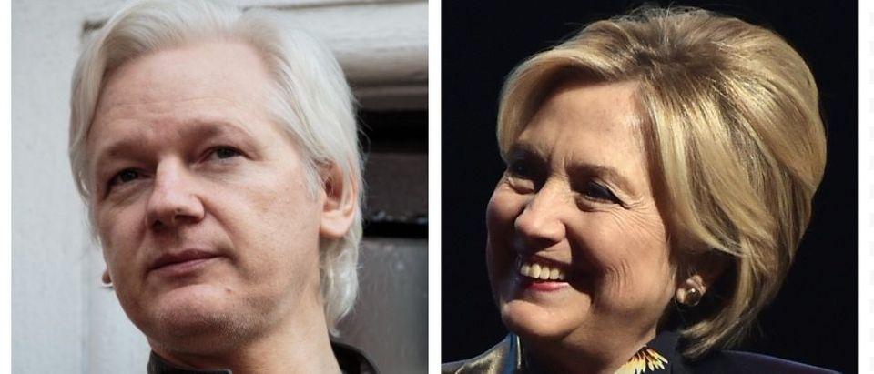Julian Assange, Hillary Clinton (Getty Images)