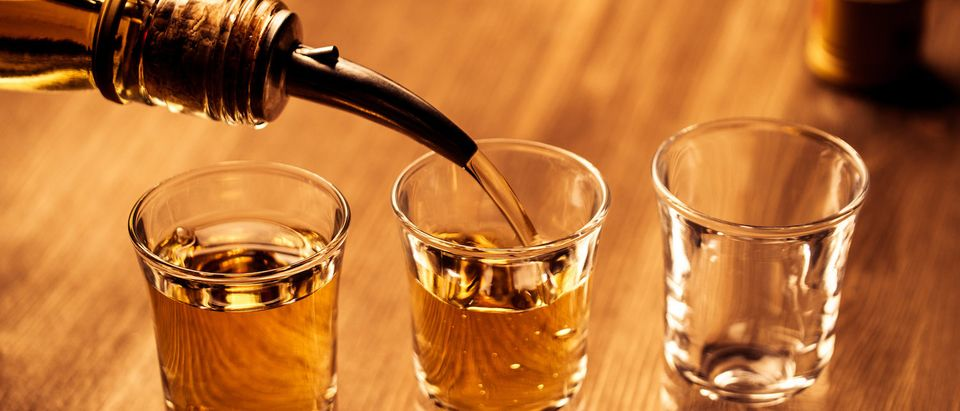 Liquor shots. (Shutterstock/Alexey Lysenko)
