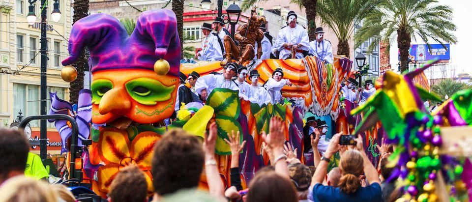 Mardi Gras celebration in New Orleans