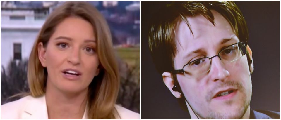Left: MSNBC screenshot, Katy Tur Right: Photo by Alexander Koerner/Getty Images