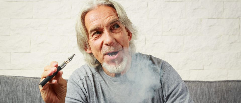 Old person vaping (Photo via Amazon)