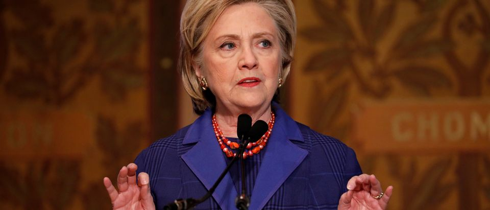 Former Secretary of State Hillary Clinton speaks at the annual Hillary Rodham Clinton awards ceremony at Georgetown University in Washington