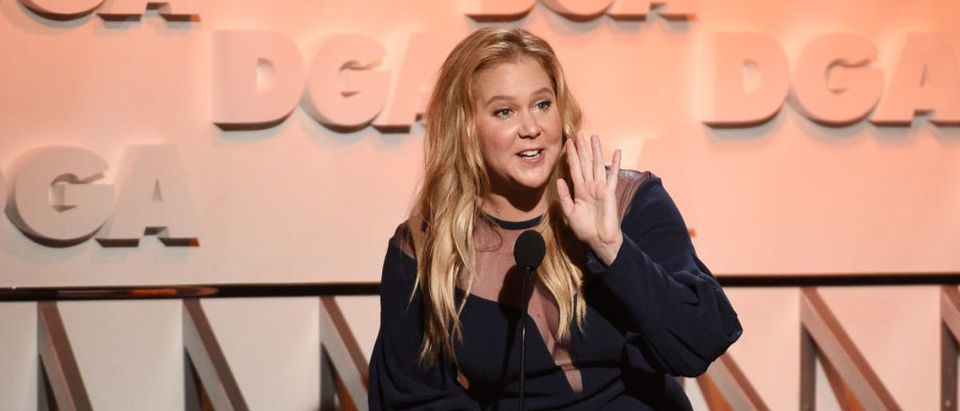 Comedian Amy Schumer speaks onstage during the 70th Annual Directors Guild Of America Awards at The Beverly Hilton Hotel on February 3, 2018 in Beverly Hills, California. (Photo by Kevork Djansezian/Getty Images for DGA)