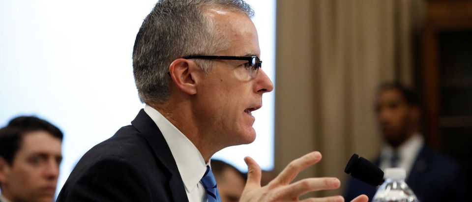 Acting FBI Director Andrew McCabe testifies before the House Commerce, Justice, Science, and Related Agencies Subcommittee on Capitol Hill in Washington