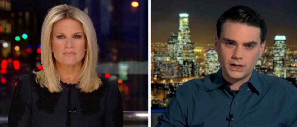 Ben Shapiro with Martha MacCallum (via Fox News screengrab)